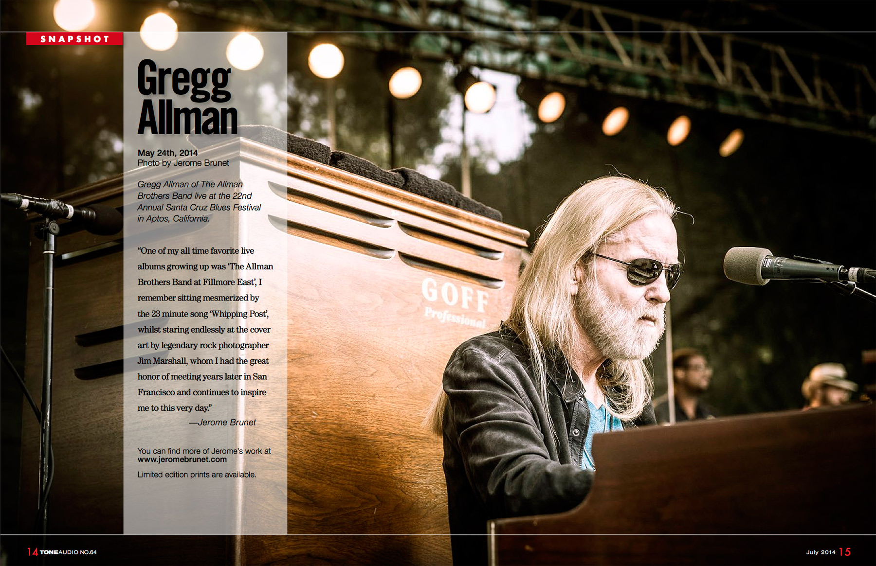 Gregg Allman live at Santa Cruz Blues Festival